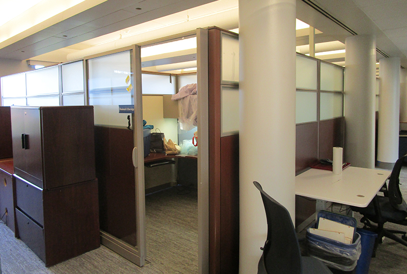 One of the cubicles sold and removed from the Rush Building. Photo courtesy Bo Solomon.