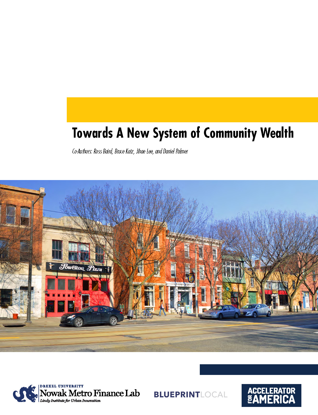Cover of Towards a New System of Community Wealth