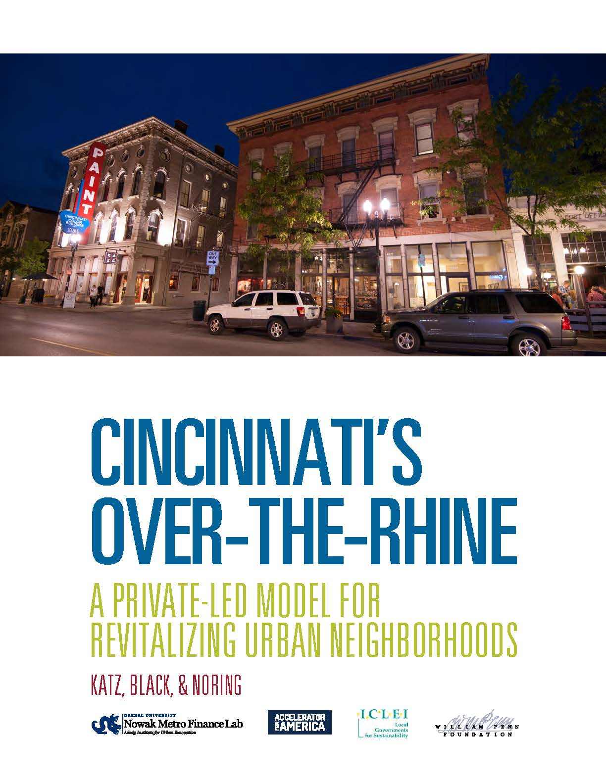 Cover page of CINCINNATI'S OVER-THE-RHINE A PRIVATE LED MODEL FOR REVITALIZING URBAN NEIGHBORHOODS