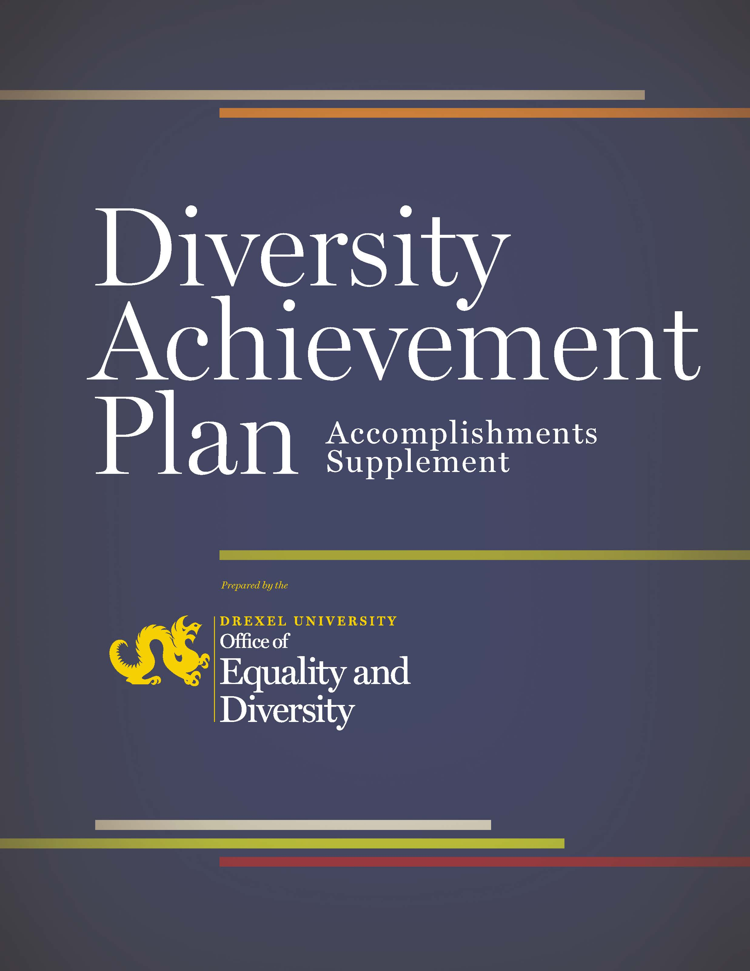 Image of Diversity Achievement Plan Accomplishments Supplement Cover