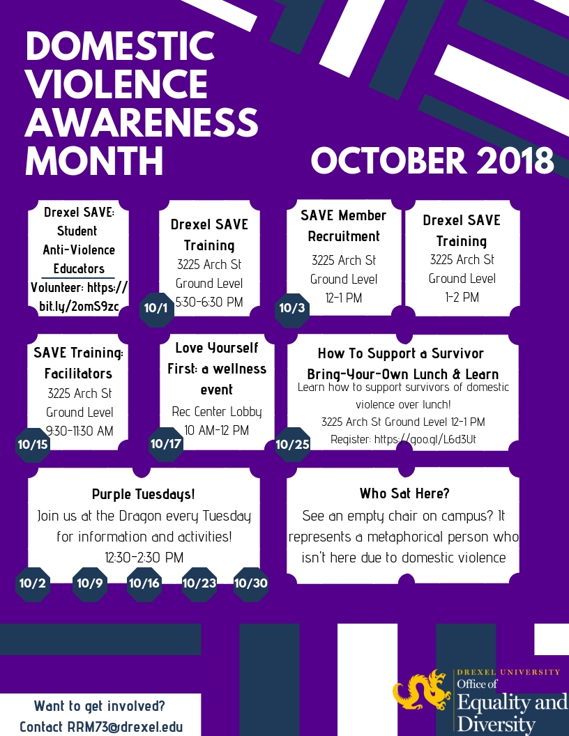 domestic violence awareness month 2018 office of equality and