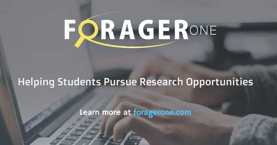 ForagerOne helps students pursue research opportunities. Go to foragerone.com.