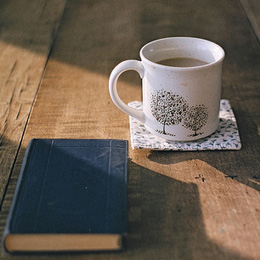 Dean's tea sidebar - cup of tea and book