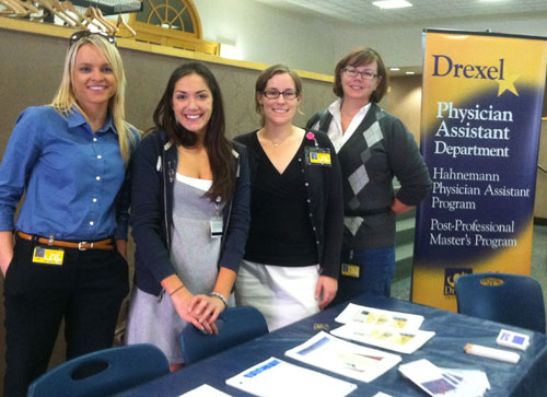 "Students at the Drexel University Hahnemann Physician Assistant Program ""What is a PA?"" event."