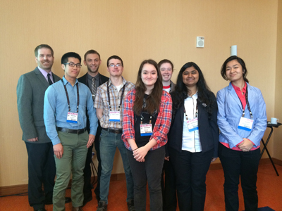 Drexel SPS students at APS meeting