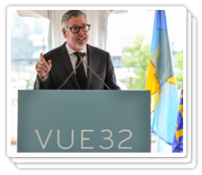 President Fry at the VUE32 Groundbreaking