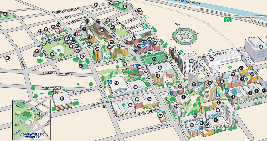Drexel University Map Campus Amenities and Resources | Student Life | Drexel University Drexel University Map