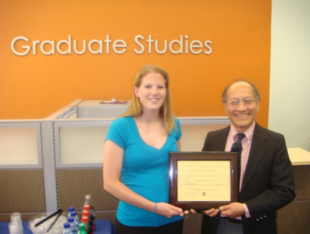 Outstanding Masters Student Award 2009
