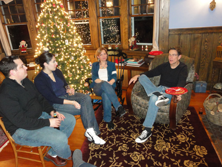 Holiday Party - Stephanie, Lynn and James (December 2010)