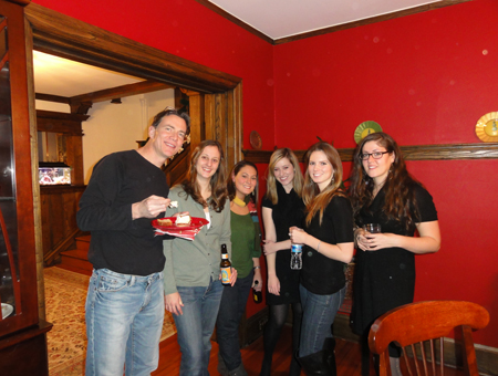 Holiday Party - James, Liz, Elizabeth, Lauren, Mackenzie and Marina (December 2010)