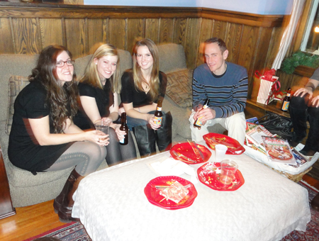 Holiday Party - Marina, Lauren, Mackenzie and Evan (December 2010)