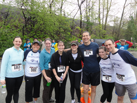 Narberth runners post-race (April 2011)