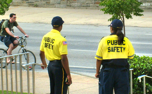 Security Officers on campus