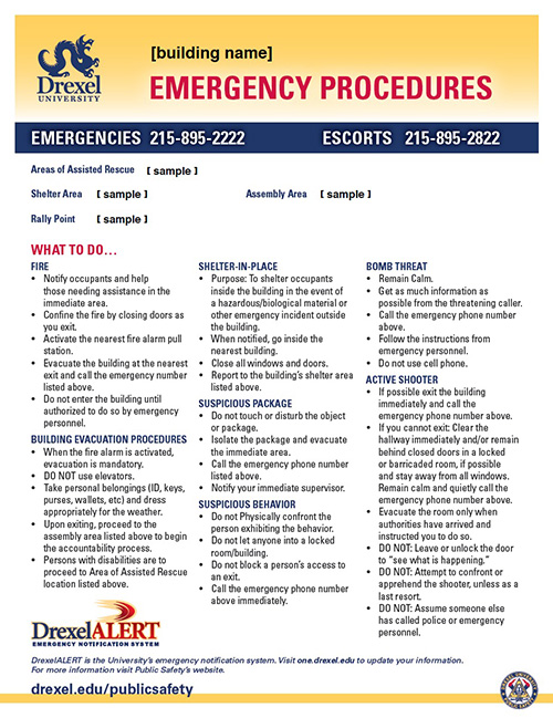 emergency procedures document