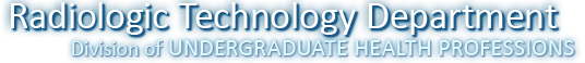 Go to the Radiologic Technology home page