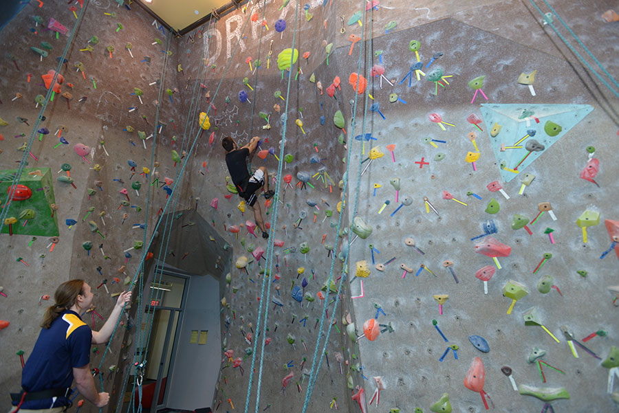 Center's Climbing Wall is