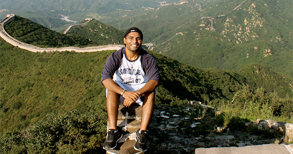Jaise John Climbing Walls in China