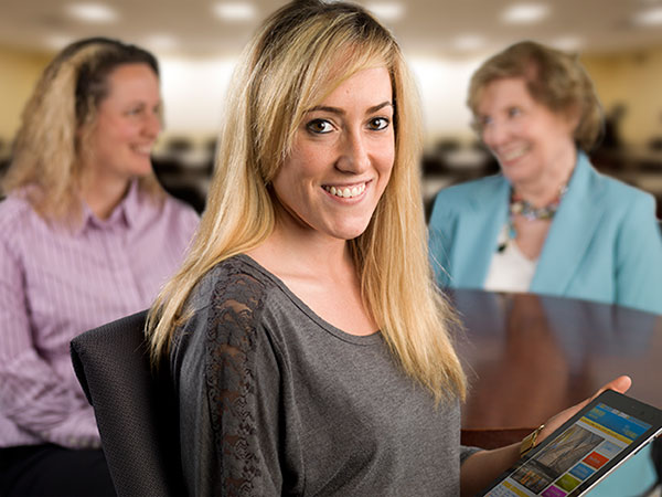 Learning Technologies Student with iPad