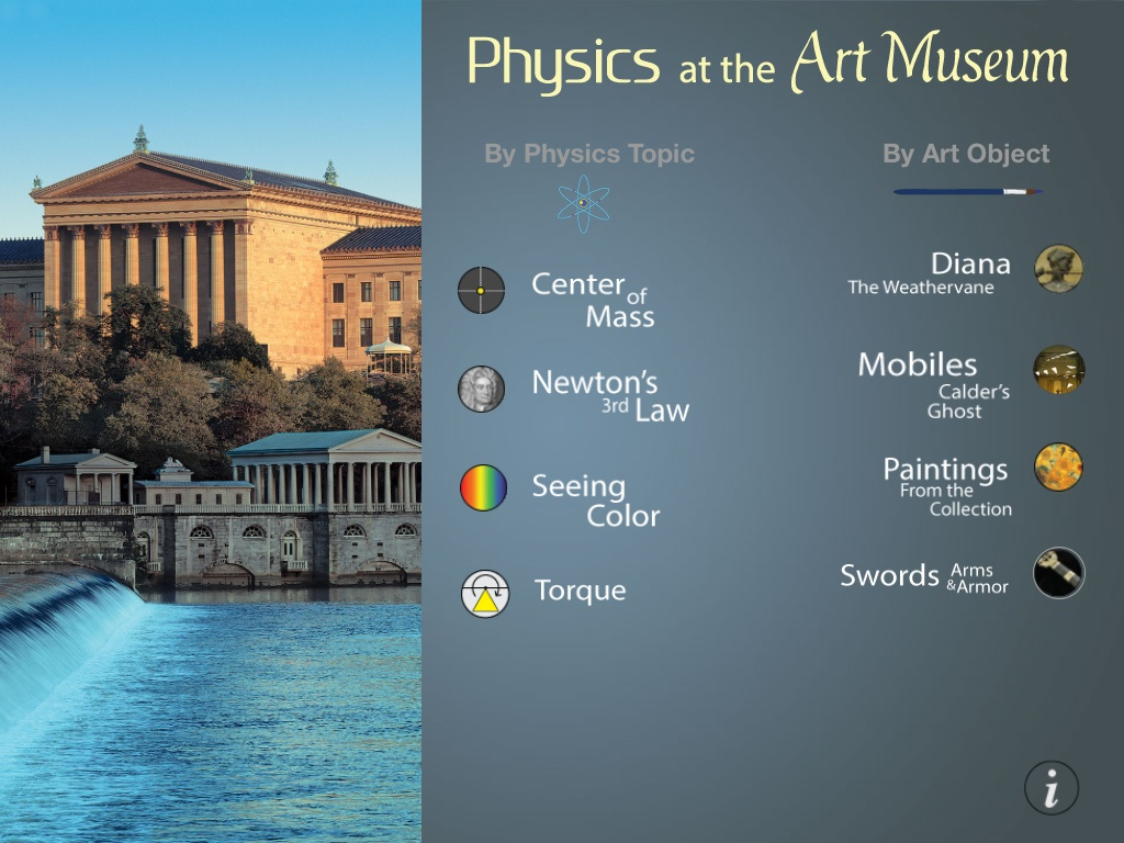 Physics at the Art Museum iPad app