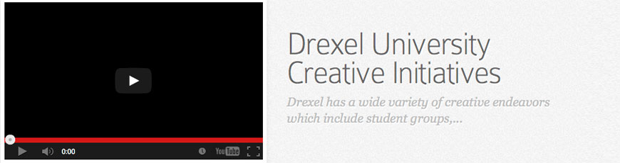 Drexel University Creative Initiatives
