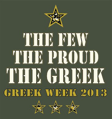 Greek Week 2013 Logo - The few, the proud, the Greek.