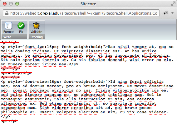 Rid Of Paragraph Tags