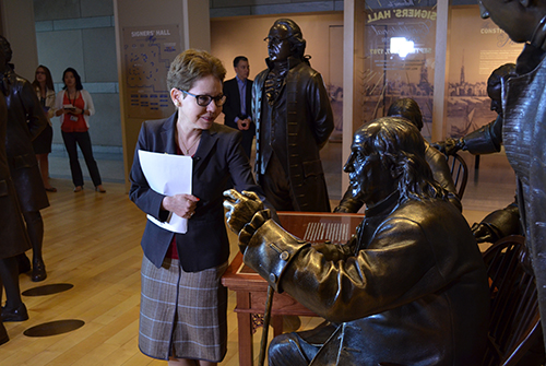 Dean Paula Cohen at the National Constitution Center in Philadelphia