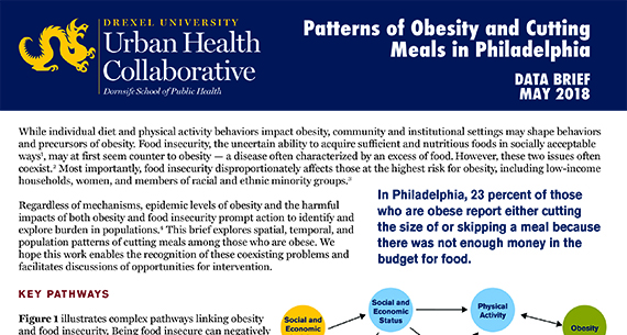 Data Brief: Patterns of Obesity and Cutting Meals in Philadelphia
