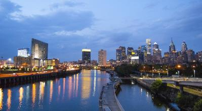 Philadelphia Schuylkill River at Night