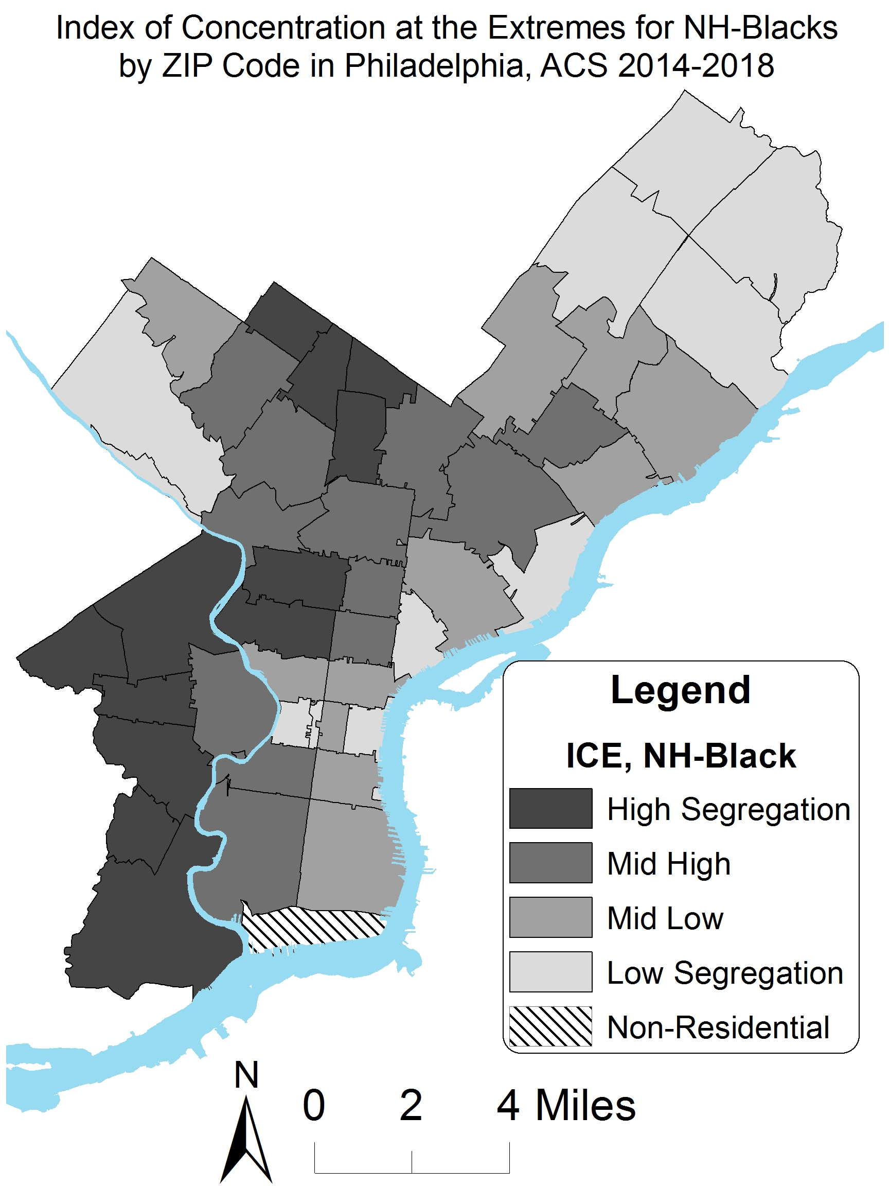 Racial Residential Segregation in Philadelphia