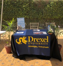 Drexel University Table at an Admissions Event in Pakistan