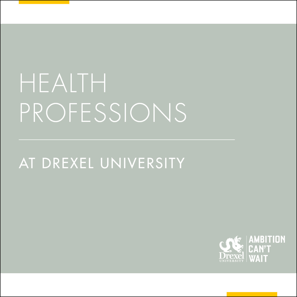 Health Professions at Drexel University