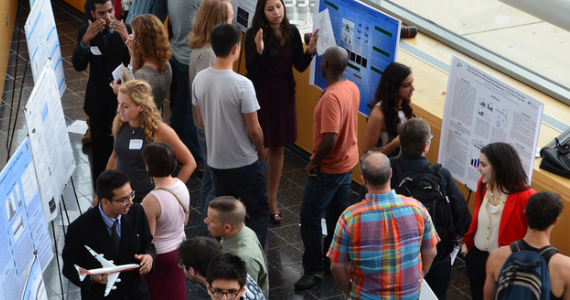 Students present their research at the 2013 STAR Summer Research Showcase.