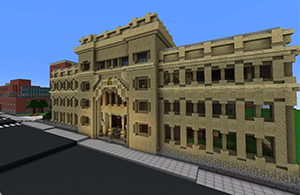 Explore Campus in Minecraft Video