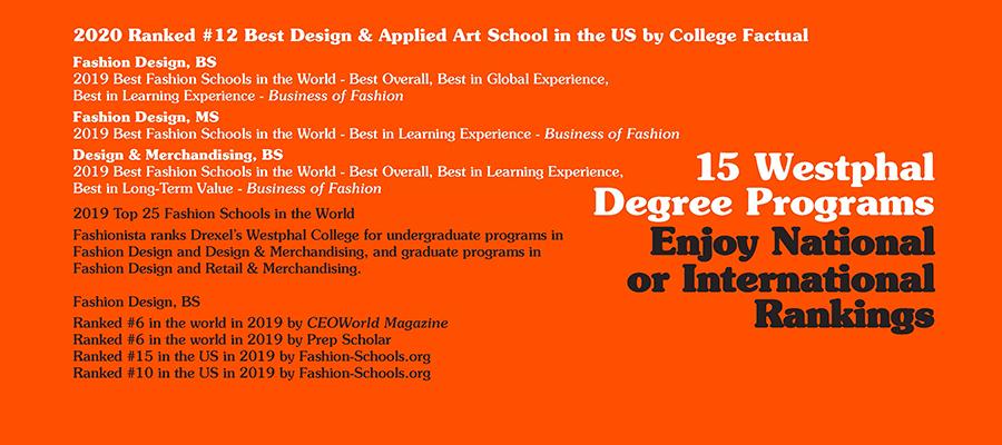 Top Rankings For Westphal College Of Media Arts Design Drexel Westphal