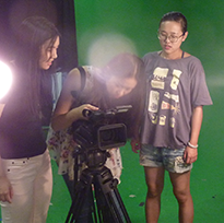 Television Management graduate students engaged with the community.
