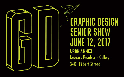 Graphic design senior show on june 12, 2017 in the leonard pearlstein gallery