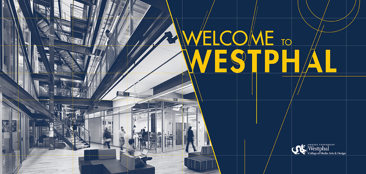 URBN Center Lobby with phrase Welcome to Westphal