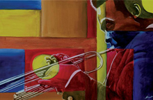 painting of african american musician