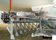 Concept drawing of Airport by Architecture Student