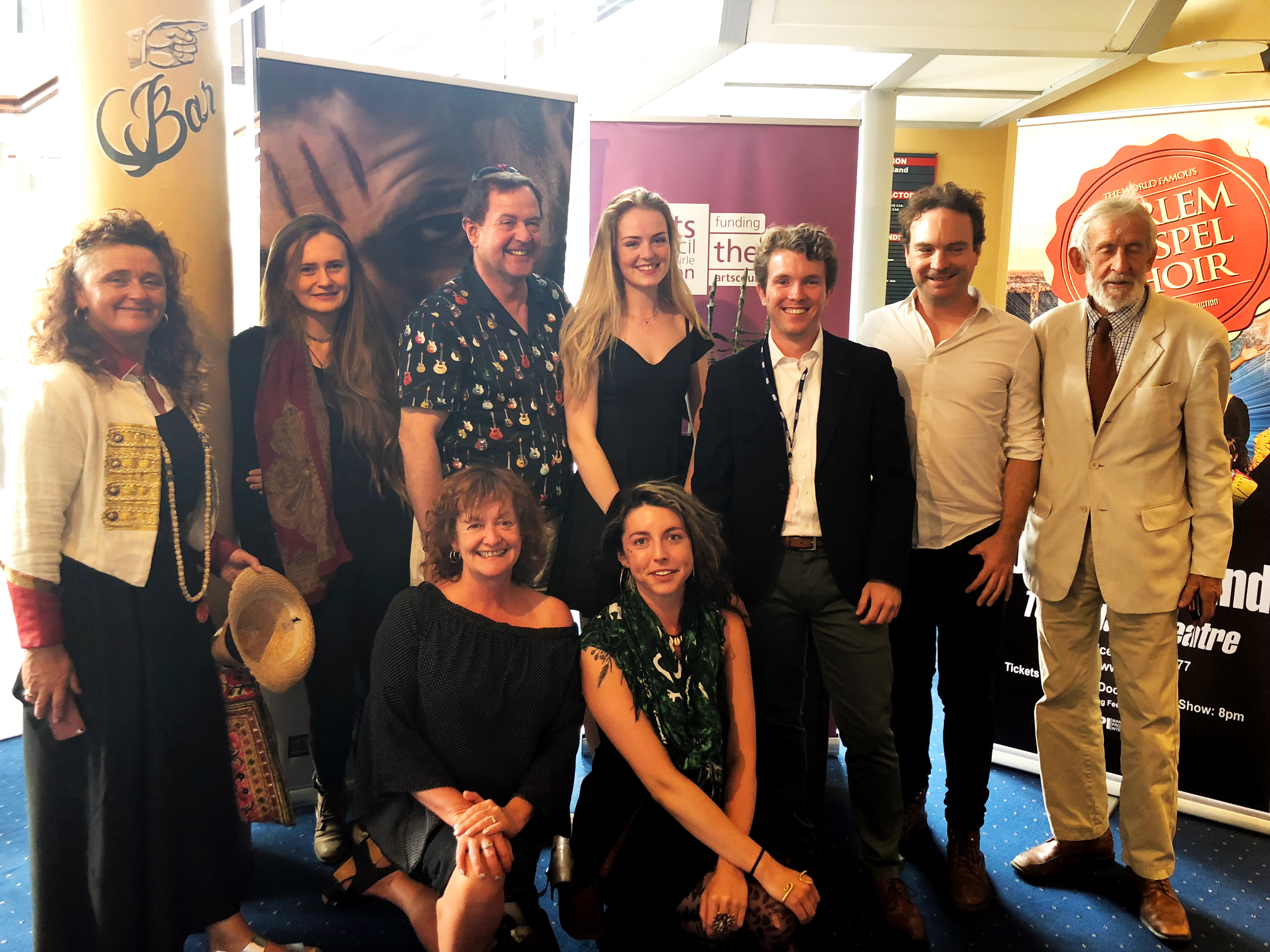 Westphal alum Kevin Quinn with cast & crew of the American Wake at the Galway Film Fleadh