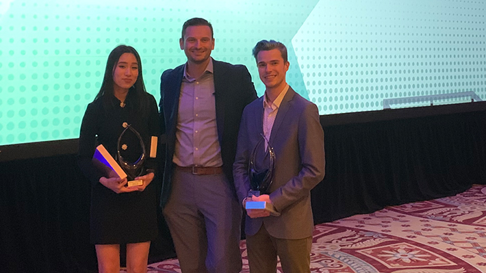 Sabrina Tran and Ben Red, winners of the Brand X Challenge