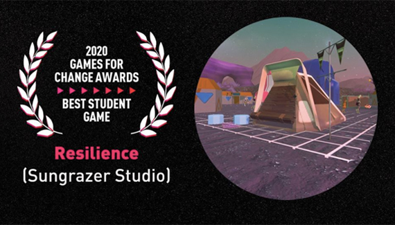Resilience receives 2020 Games For Change Best Student Game Award