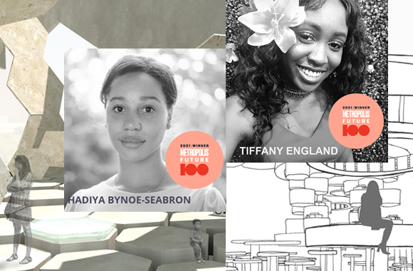 Interior Architecture & Design students Hadiya Bynoe-Seabron and Tiffany England