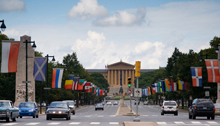 Photograph of Benjamin Franklin Parkway on a sunny day