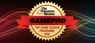 GamePro Logo with black and colorful neon lights background