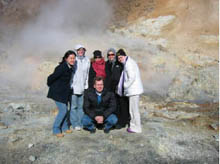 Photograph of a group of students in Iceland