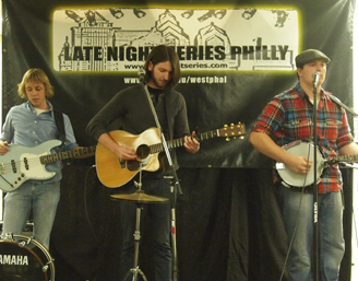 Photograph of band playing on Late Night Series Stage