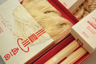 Red and White Noodle Packaging