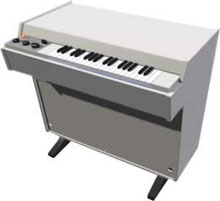 Photograph of white Mellotron
